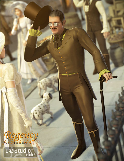 Regency for Michael 4 by: Ravenhair, 3D Models by Daz 3D