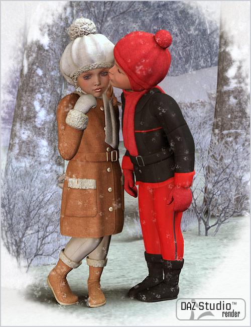 Winter Fun for Kids 4 by: esha, 3D Models by Daz 3D