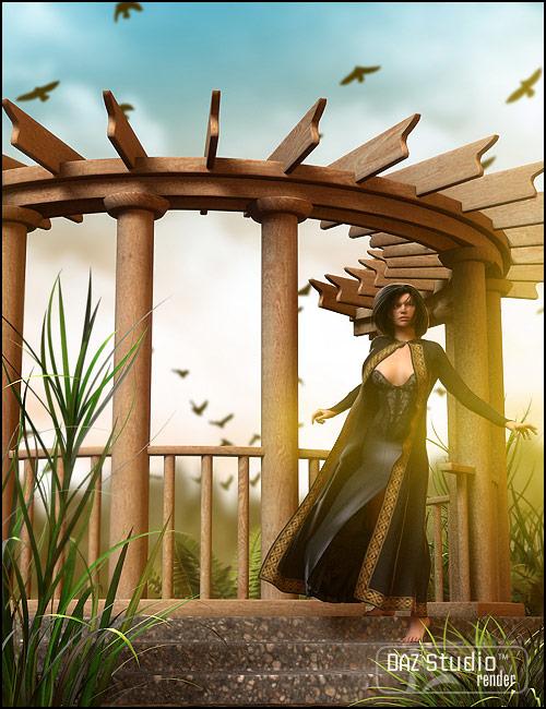 Garden Escape Porch by: ARTCollab, 3D Models by Daz 3D