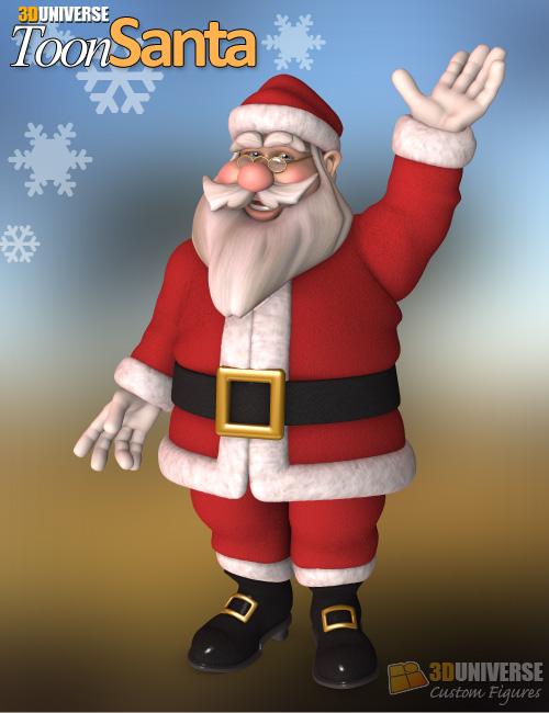 3D Universe Toon Santa by: 3D Universe, 3D Models by Daz 3D