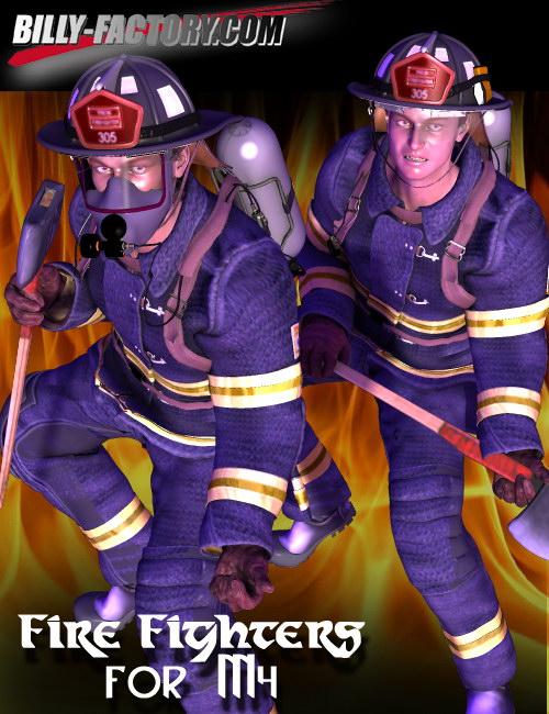 M4 Fire Fighters Set by: BILLY-T, 3D Models by Daz 3D