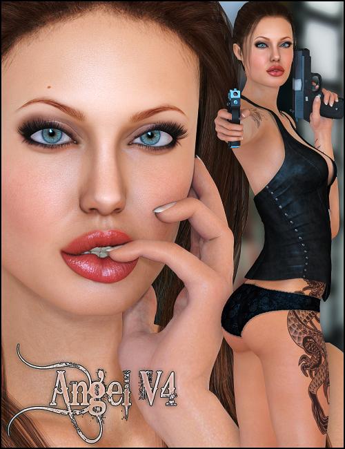 Angel for V4 by: maelwenn, 3D Models by Daz 3D