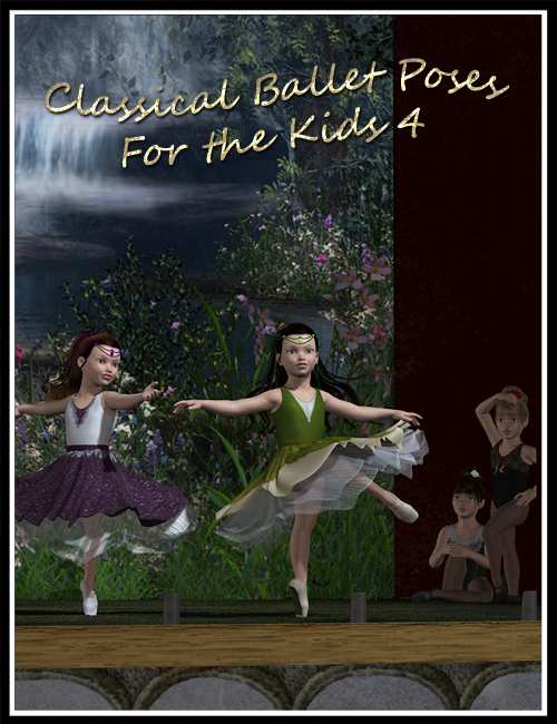Classical Ballet Poses for The Kids 4 by: Elliandra, 3D Models by Daz 3D