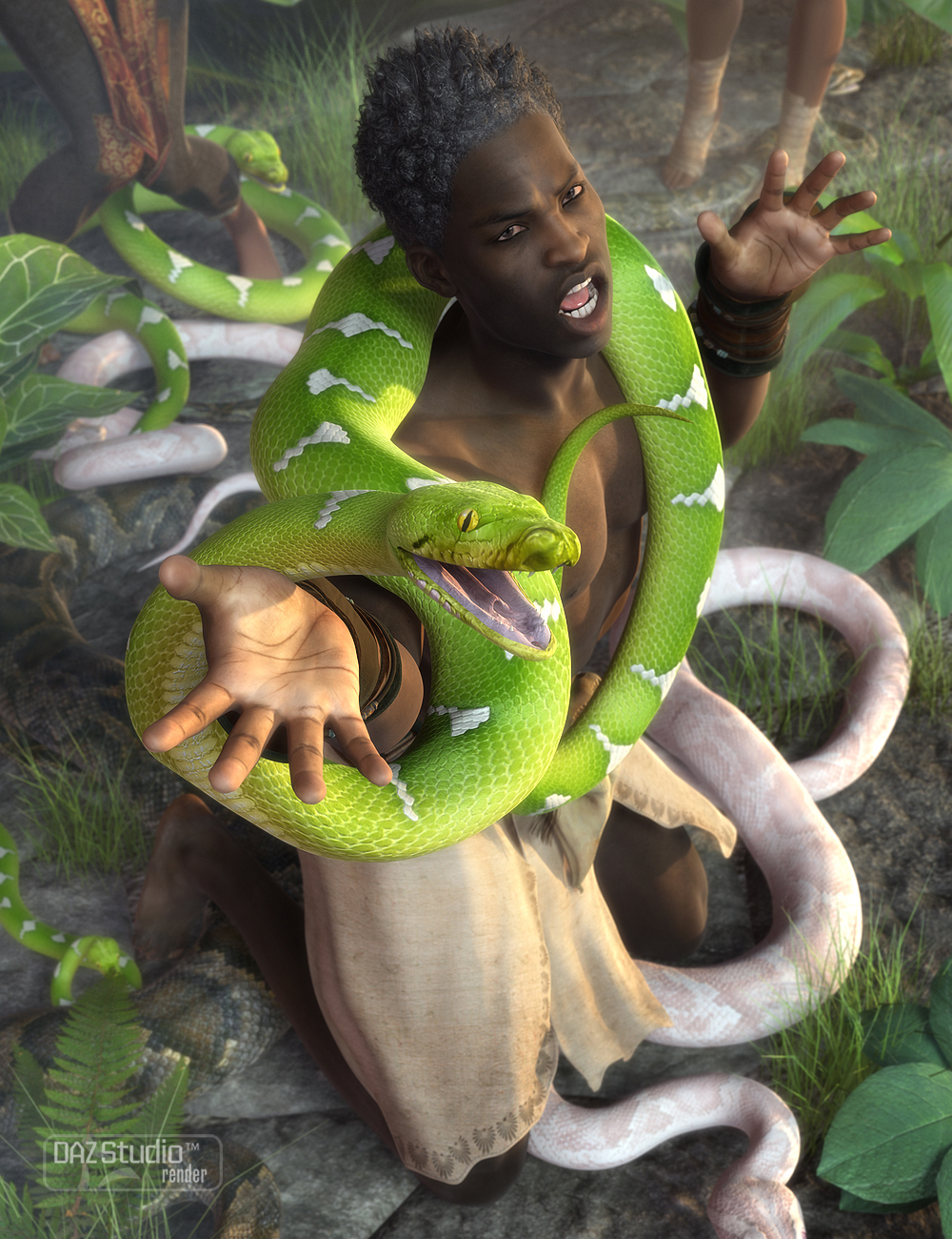Morphing Python by: , 3D Models by Daz 3D