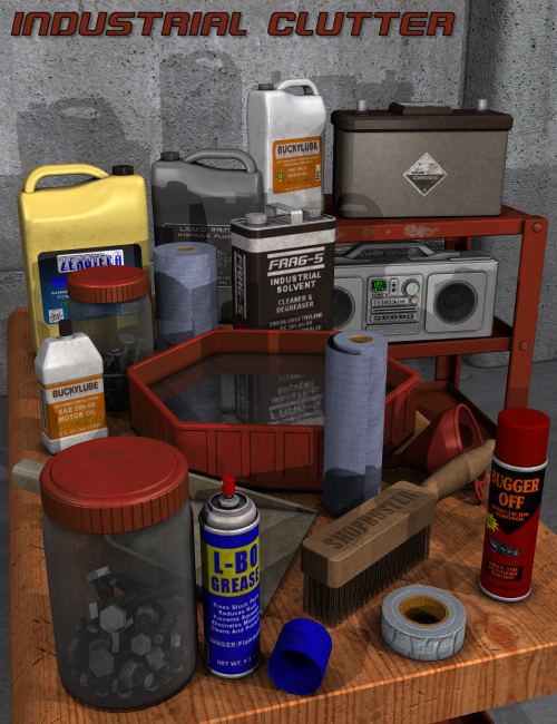 Industrial Clutter by: Nightshift3D, 3D Models by Daz 3D
