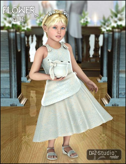 Kids 4 Flower Girl by: Barbara BrundonSarsa, 3D Models by Daz 3D