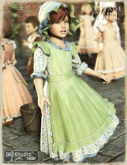 Vintage Girl by: esha, 3D Models by Daz 3D