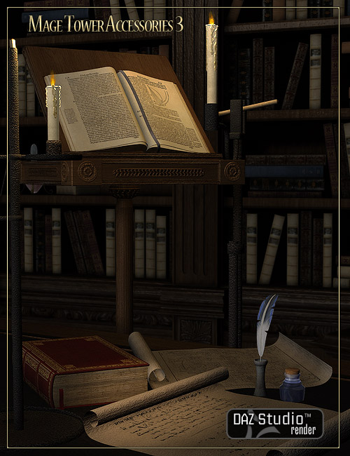 Mage Tower Accessory Pack 3 by: LaurieS, 3D Models by Daz 3D
