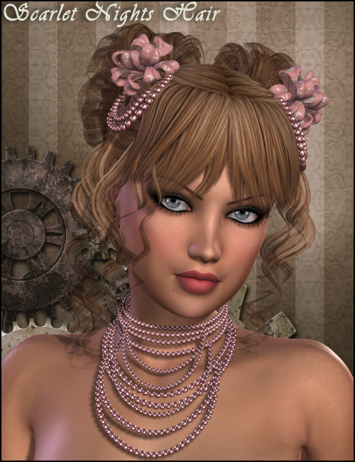 Scarlet Nights Hair by: Propschick, 3D Models by Daz 3D