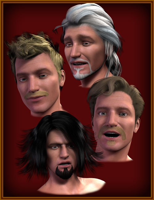 Beard for Michael 4 by: WillDupre, 3D Models by Daz 3D
