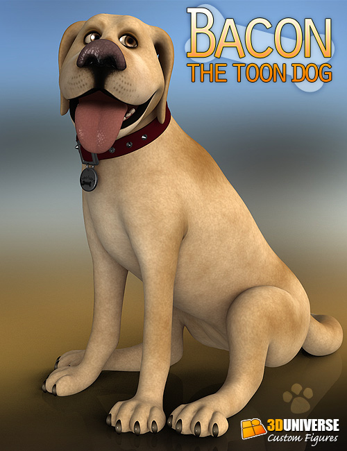 3D Universe's Bacon the Toon Dog by: 3D Universe, 3D Models by Daz 3D