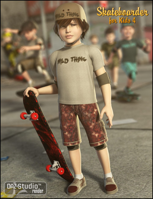 Skateboarder for The Kids 4 by: , 3D Models by Daz 3D