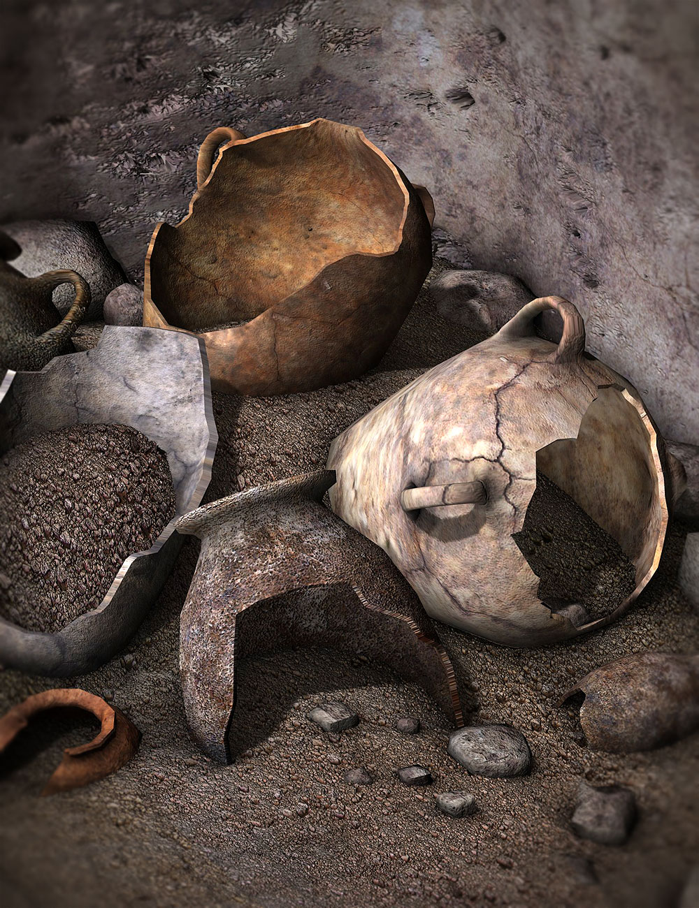 Ancient Offerings by: Orestes Graphics, 3D Models by Daz 3D