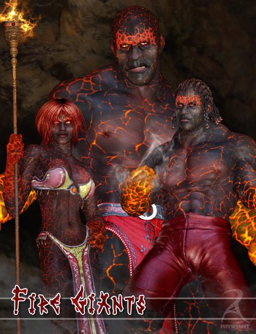 Fire Giants by: RawArt, 3D Models by Daz 3D
