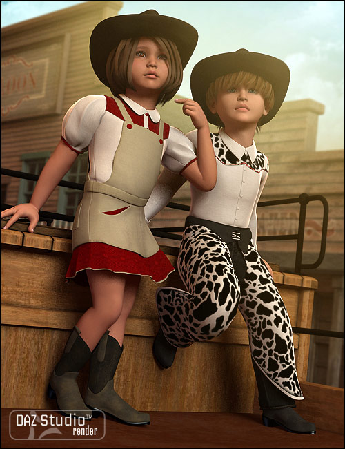 Cowpokes for Kids 4 by: Lourdes, 3D Models by Daz 3D
