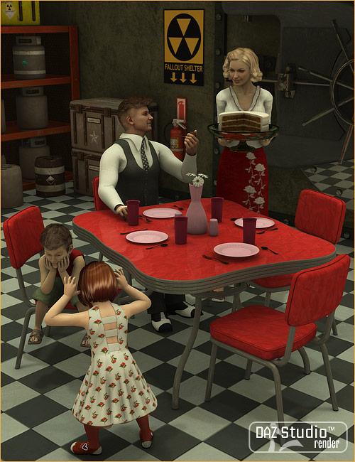 Fifties Dinette Set by: blondie9999, 3D Models by Daz 3D