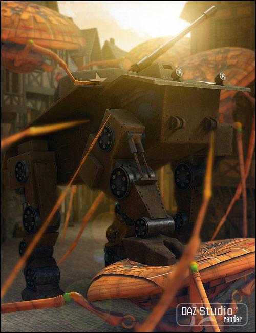 Quad Tank by: Valandar, 3D Models by Daz 3D
