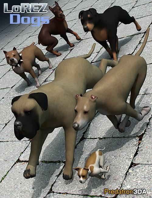 LoREZ Dogs by: Predatron, 3D Models by Daz 3D