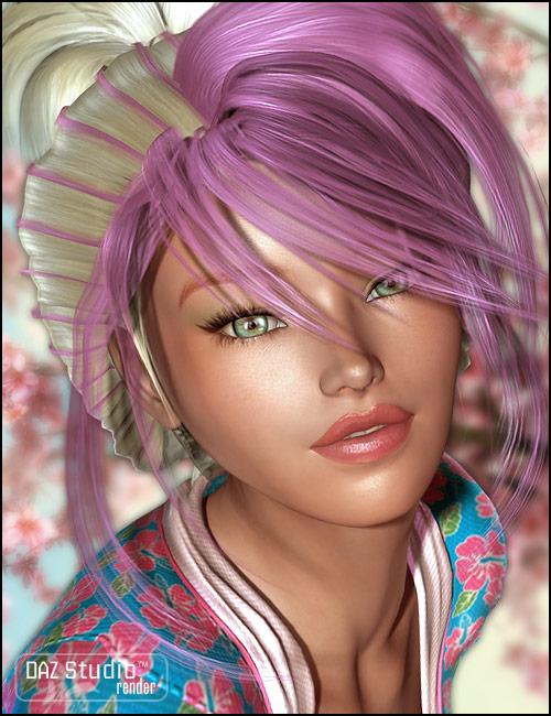 Akina Hair by: SilencerSWAM, 3D Models by Daz 3D