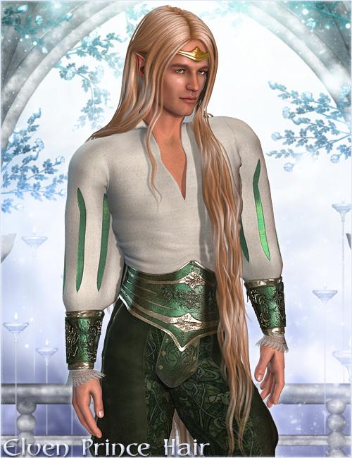 Elven Prince Hair by: Valea, 3D Models by Daz 3D