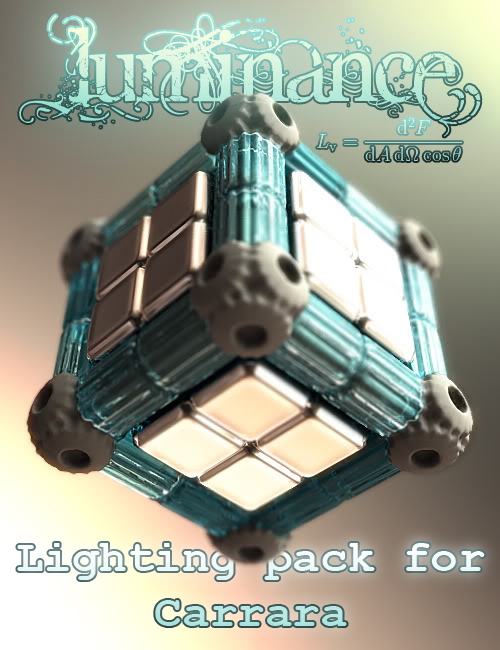 Luminance Lighting Pack For Carrara by: DimensionTheory, 3D Models by Daz 3D