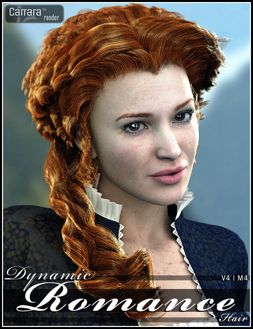 Dynamic Romance Hair by: 3DCelebrity, 3D Models by Daz 3D