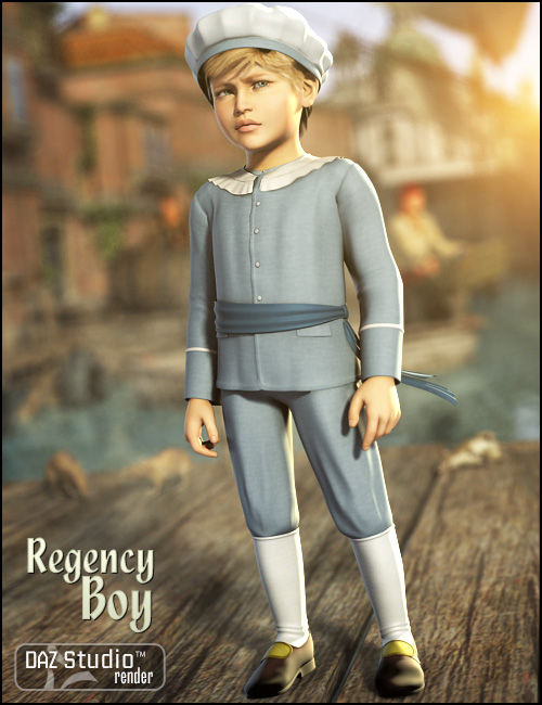 Regency Boy for Kids 4 by: Ravenhair, 3D Models by Daz 3D