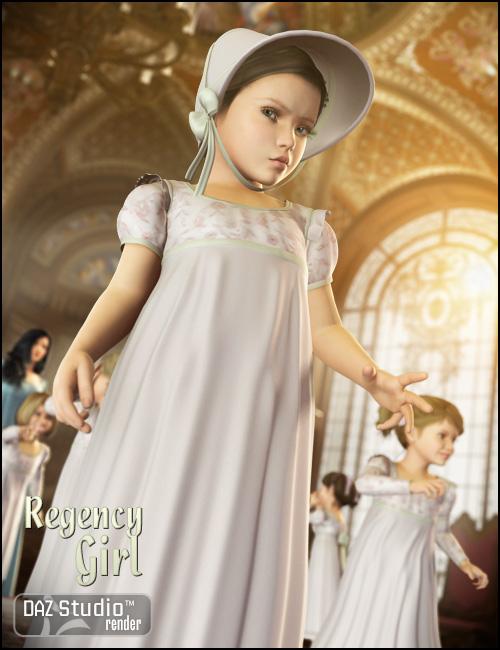 Regency Girl for Kids 4 by: Ravenhair, 3D Models by Daz 3D
