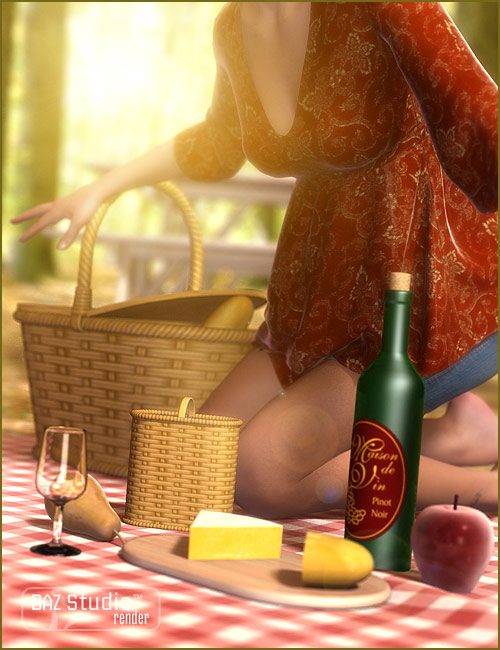 Picnic Basket by: blondie9999, 3D Models by Daz 3D
