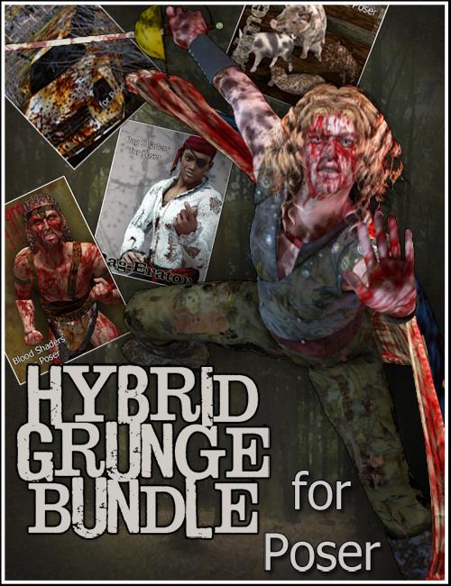 Hybrid Grunge Bundle for Poser by: DraagonStormMarieah, 3D Models by Daz 3D