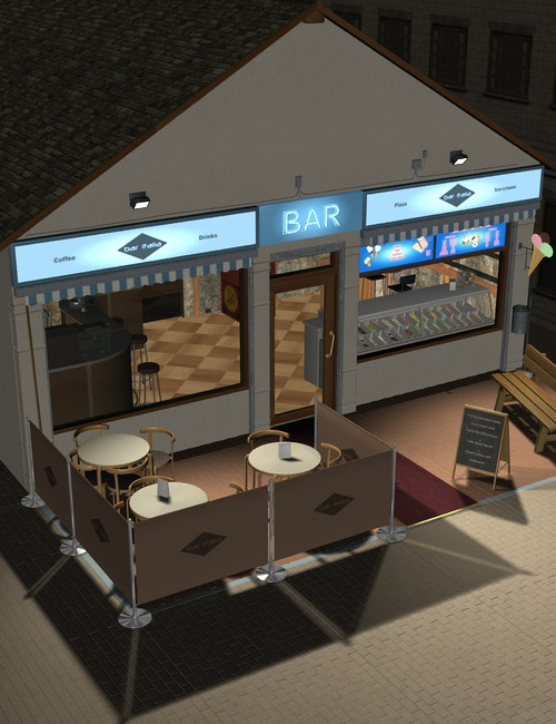 Cafe Italia by: maclean, 3D Models by Daz 3D