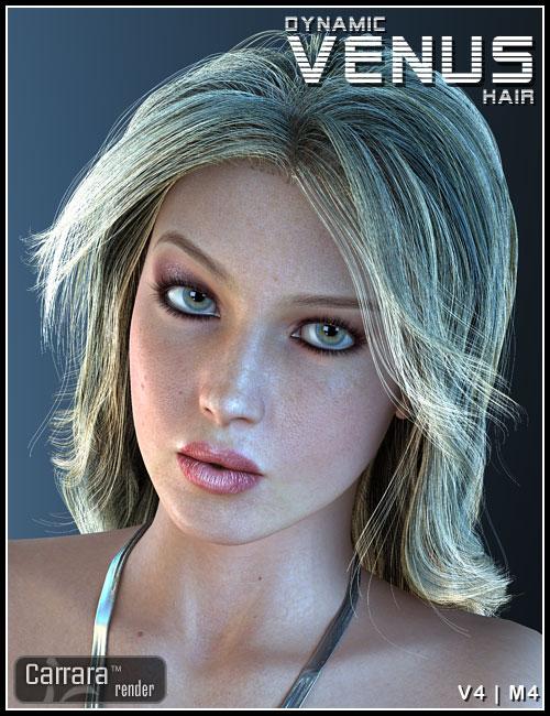 Dynamic Venus Hair by: 3DCelebrity, 3D Models by Daz 3D