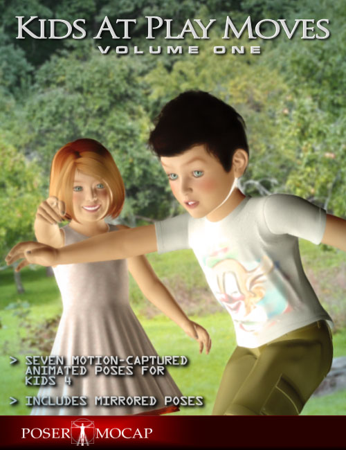 Kids at Play Moves Vol 1 by: Posermocap, 3D Models by Daz 3D