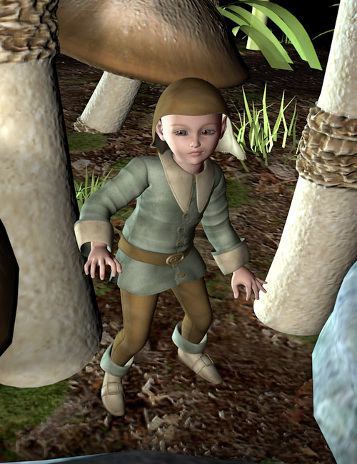 Fairytale Gnome for Kids 4 by: Lyrra Madril, 3D Models by Daz 3D