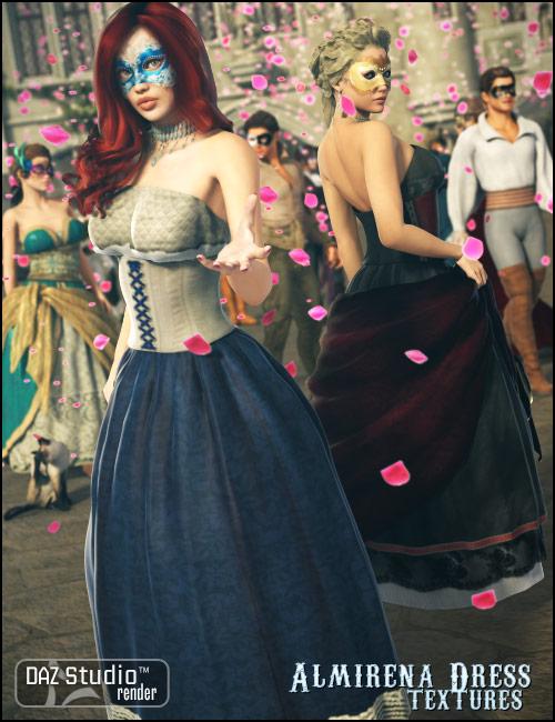 Almirena Dress Textures by: Sarsa, 3D Models by Daz 3D