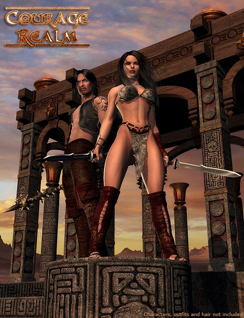DMs Courage Realm by: Daniemarforno, 3D Models by Daz 3D