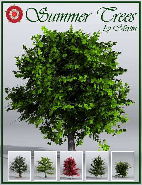 Summer Trees by Merlin by: Merlin Studios, 3D Models by Daz 3D