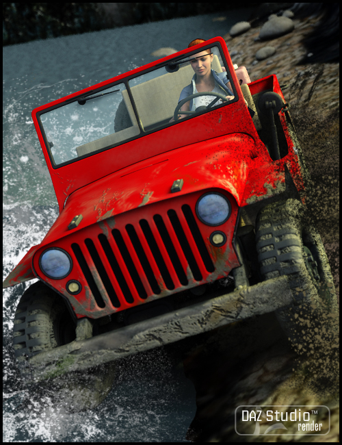 Grungy Jeeps by: , 3D Models by Daz 3D