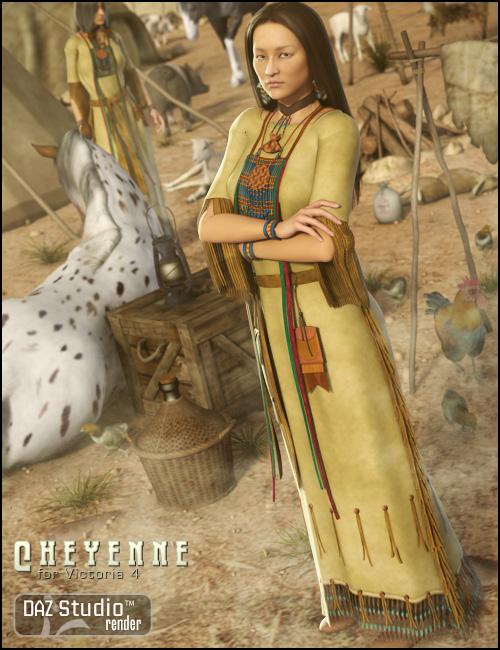 Cheyenne for V4 by: Ravenhair, 3D Models by Daz 3D