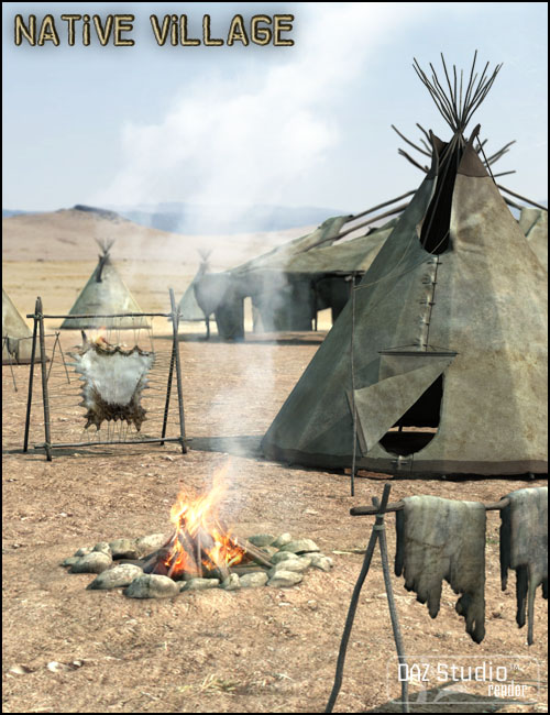 Native Cheyenne Village by: Jack Tomalin, 3D Models by Daz 3D