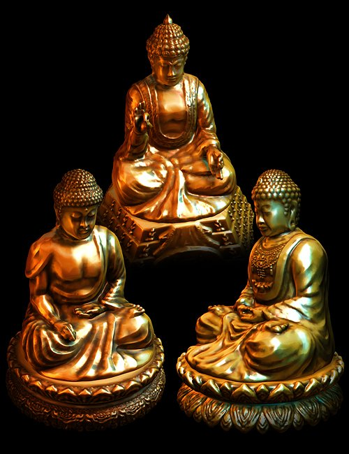 Buddha Statues by: Dreamscape-Creations, 3D Models by Daz 3D