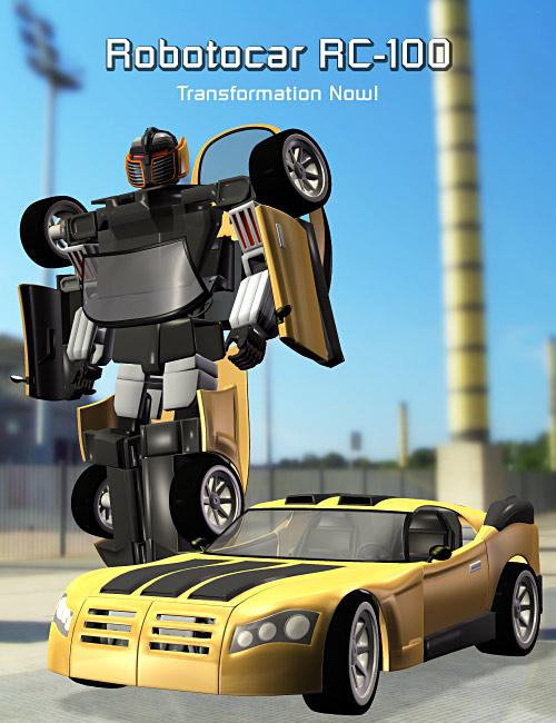 Robotocar RC 100 by: Andrey Pestryakov, 3D Models by Daz 3D