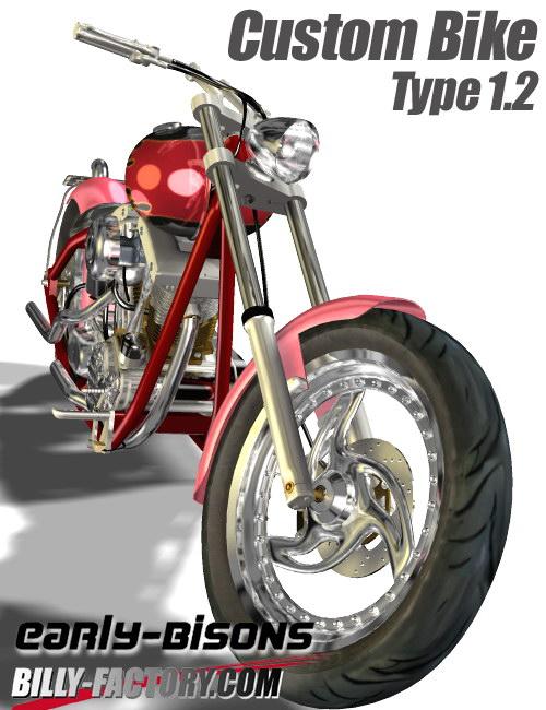 Custom Bike Type 1.2 by: BILLY-T, 3D Models by Daz 3D