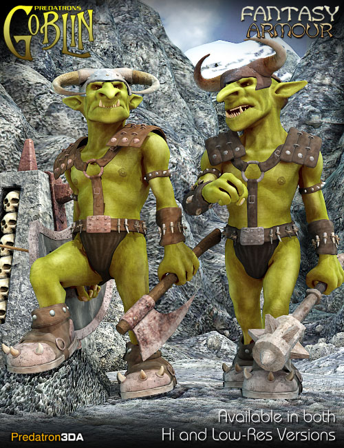 Goblin Fantasy Armour by: Predatron, 3D Models by Daz 3D