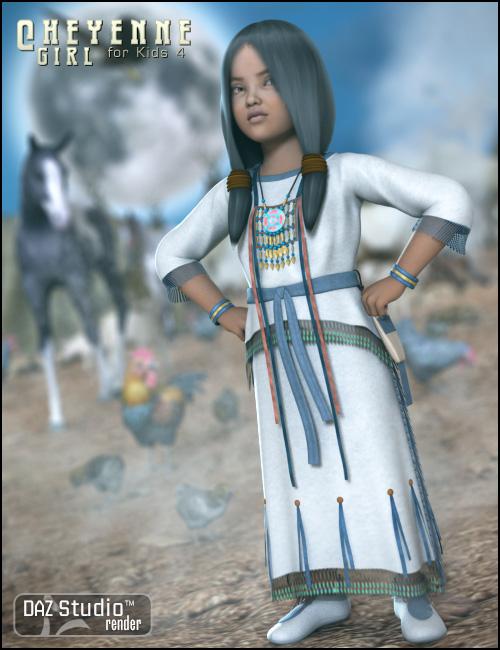 Cheyenne Girl for Kids 4 by: Ravenhair, 3D Models by Daz 3D