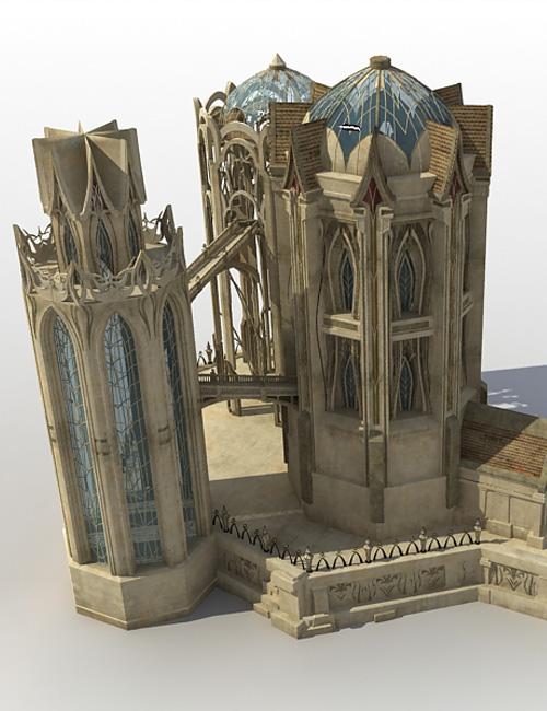 Elven Temple by: Cornucopia3D, 3D Models by Daz 3D