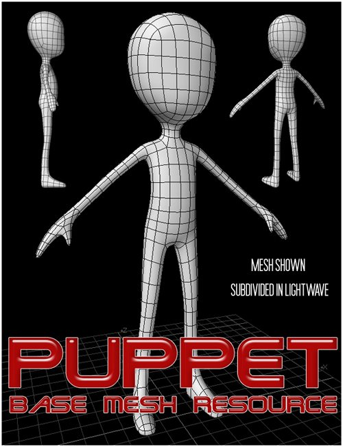 Puppet - Merchant Resource Base Mesh by: , 3D Models by Daz 3D