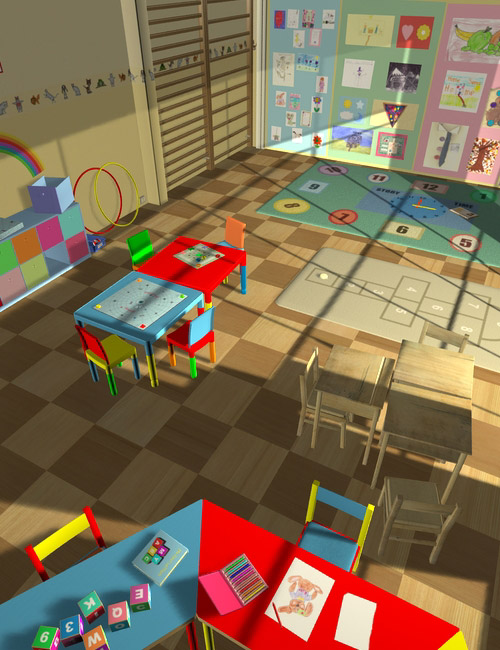 Interiors The Playschool by: maclean, 3D Models by Daz 3D