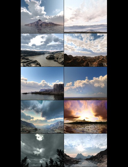 Bryce Pro Cloudscapes by: David Brinnen, 3D Models by Daz 3D