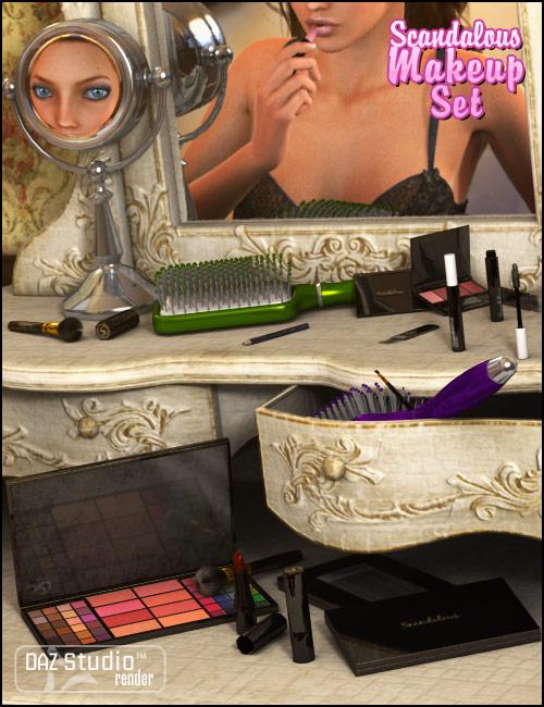 Scandalous Makeup Set by: ARTCollab, 3D Models by Daz 3D